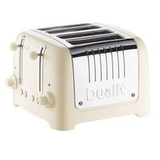 Dualit Lite 4 Slot Toaster Cream Gloss