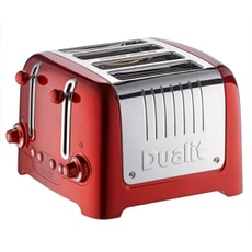 Dualit Lite 4 Slot Toaster Metallic Red