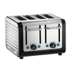 Dualit Architect 4 Slot Toaster Black With Brushed S/S Panel