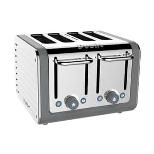 Dualit Architect 4 Slot Toaster Grey With S/S Panel
