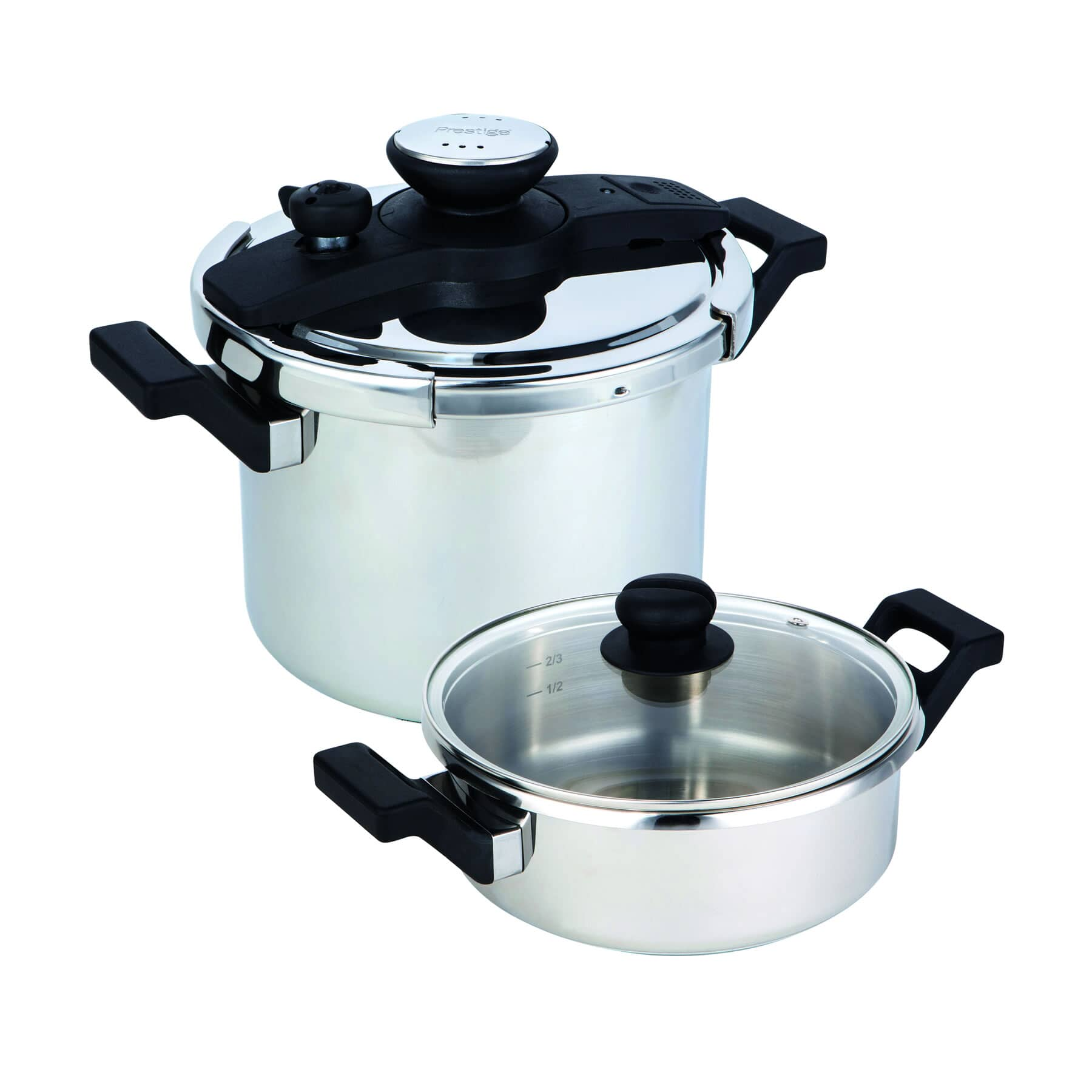 Prestige 4 Piece Stainless Steel Pressure Cooker Set