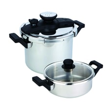 Prestige 4 Piece Stainless Steel Pressure Cooker Set