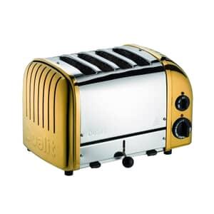 Dualit Classic Vario AWS 4 Slot Toaster Brass