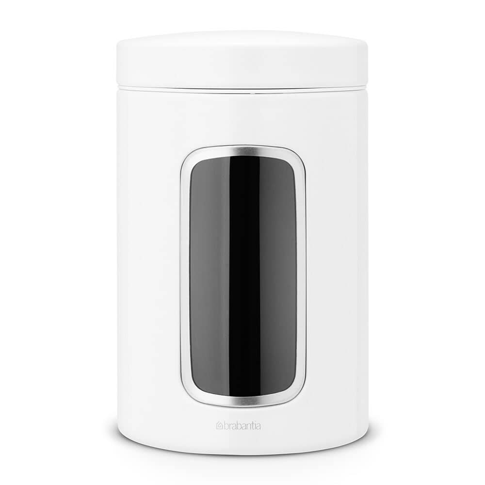 Brabantia Window Canister 1.4L White