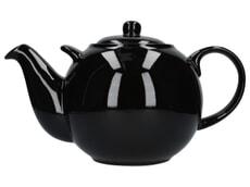London Pottery Globe® 10 Cup Teapot Gloss Black