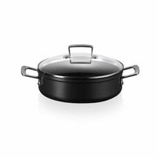 Le Creuset TNS 24cm Saute Pan With Glass Lid