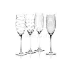 Mikasa Cheers Set Of 4 Flute Glasses
