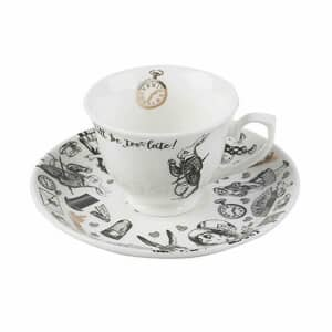 V and A Victoria And Albert Alice In Wonderland Espresso Cup And Saucer