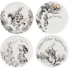 V and A Victoria And Albert Alice In Wonderland Set of 4 Side Plates