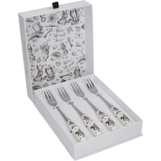 V and A Victoria And Albert Alice In Wonderland Set of 4 Pastry Forks