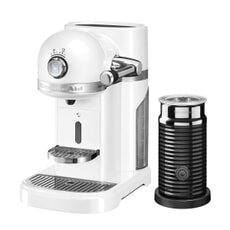 KitchenAid Artisan Nespresso Maker With Aeroccino - Frosted Pearl