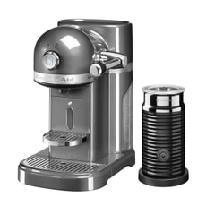 KitchenAid Artisan Nespresso Maker With Aeroccino - Medallion Silver