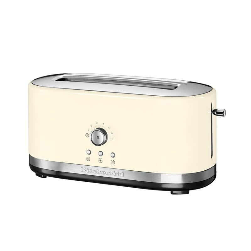 Kitchenaid Manual Control 4 Slice Long Slot Toaster Almond