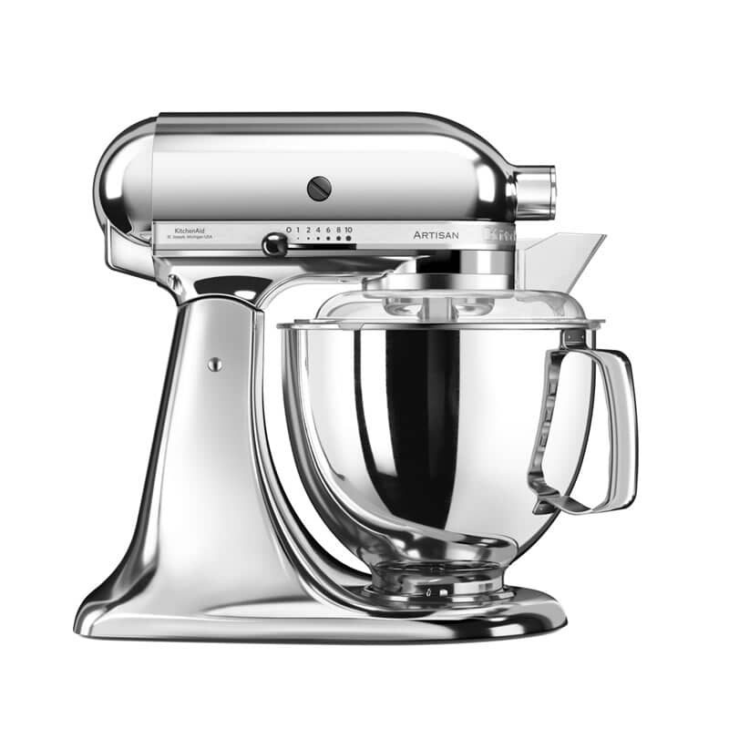 kitchenaid mixer silver. kitchenaid artisan mixer 4 8l chrome 5ksm175psbcr silver