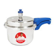 Wonderchef Nigella Pressure Cooker Blue 3 Litres