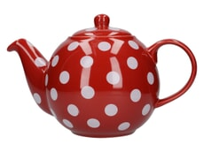 London Pottery Globe� 6 Cup Teapot Red With White Spots