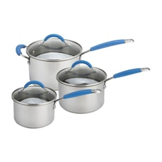 Joe Wicks Quick and Even Stainless Steel Non-Stick - 3 Piece Saucepan Set