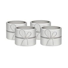 Wedgwood Vera Wang Love Knots - Napkin Rings Set 4 Silver