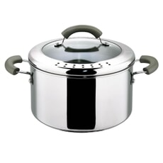 This Morning Stainless Steel 24cm Stockpot Grey