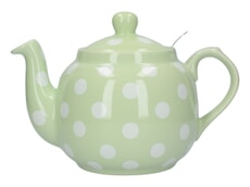 London Pottery Farmhouse� 4 Cup Teapot Peppermint With White Spots