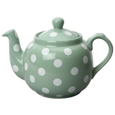 London Pottery Farmhouse� 4 Cup Teapot Green With White Spots