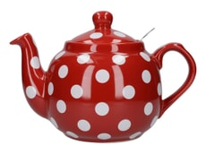 London Pottery Farmhouse� 4 Cup Teapot Red With White Spots
