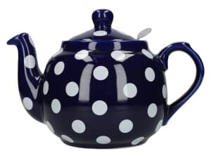 London Pottery Farmhouse� 4 Cup Teapot Blue With White Spots