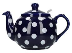 London Pottery Farmhouse� 4 Cup Teapot Blue With White Spots