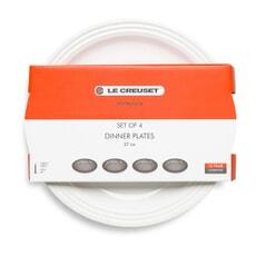 Le Creuset 27cm Dinner Plate Set Of 4 White