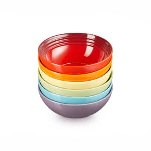 Le Creuset Rainbow Cereal Bowls Set Of 6
