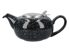 London Pottery Pebble� Filter 2 Cup Teapot Gloss Black Flecked