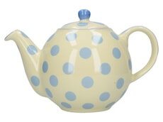 London Pottery Globe� 4 Cup Teapot Ivory With Blue Spots