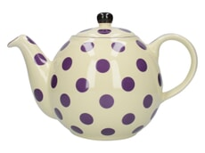London Pottery Globe� 4 Cup Teapot Ivory With Aub Spots