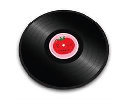 Joseph Joseph Vinyl Record Board Tomato