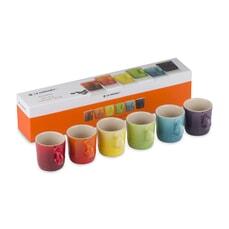 Le Creuset New Rainbow Set Of 6 Espresso Mugs