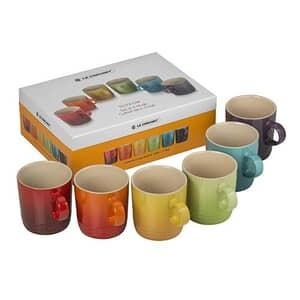 Le Creuset Rainbow Set Of 6 Mugs