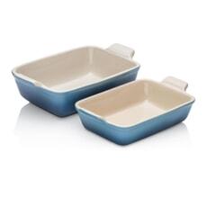 Le Creuset Deep Rectangular Dishes Set Of 2 Marine