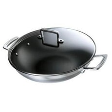 Le Creuset 3 Ply Stainless Steel 30cm Wok
