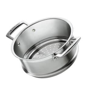Le Creuset 3 Ply Stainless Steel 20cm Steamer Insert (Handles)