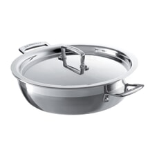 Le Creuset 3 Ply Stainless Steel 26cm Shallow Casserole With Lid