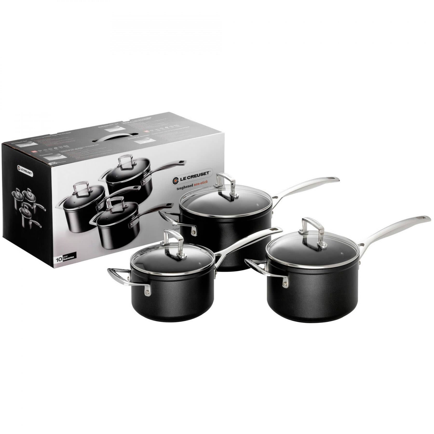 le creuset tns 3 piece saucepan set 962090000 ecookshop. Black Bedroom Furniture Sets. Home Design Ideas
