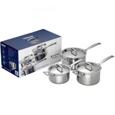 Le Creuset 3 Ply Stainless Steel 3 piece Saucepan Set