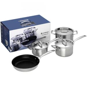 Le Creuset 3 Ply Stainless Steel 4 piece Set