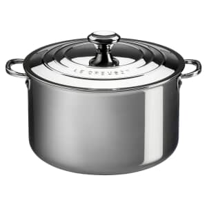 Le Creuset Signature Stainless Steel 20cm Uncoated Deep Casserole With Lid