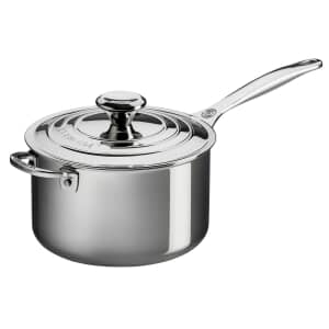 Le Creuset Signature Stainless Steel 18cm Saucepan With Lid
