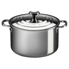 Le Creuset Signature Stainless Steel 24cm Uncoated Stockpot With Lid