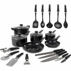 Morphy Richards 6 Piece Pan Set With Tools Black