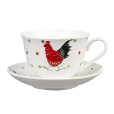 Alex Clark Rooster Stratford Tea Cup and Saucer