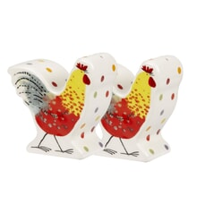 Alex Clark Rooster Shaped Salt And Pepper Pots