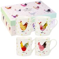 Alex Clark Rooster Larch Mug 4 Piece Set 250ml